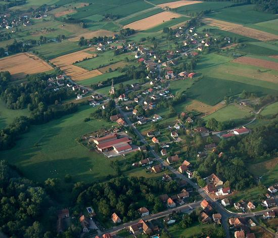 Photo vue aerienne manspach